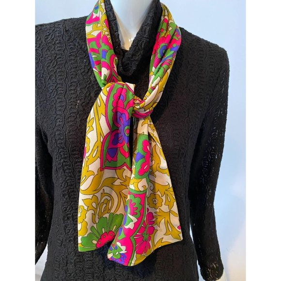 Gold and Neon Colored Vintage Sash